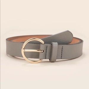 Grey D-Buckle Belt